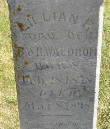 WALDRON, LILLIAN R. - Codington County, South Dakota   LILLIAN R. WALDRON - South Dakota Gravestone Photos