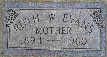 EVANS WALSTEN, RUTH W. - Codington County, South Dakota   RUTH W. EVANS WALSTEN - South Dakota Gravestone Photos
