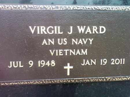 WARD, VIRGIL J. US NAVY - Codington County, South Dakota | VIRGIL J. US NAVY WARD - South Dakota Gravestone Photos