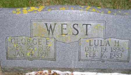 WEST, LULA H. - Codington County, South Dakota | LULA H. WEST - South Dakota Gravestone Photos