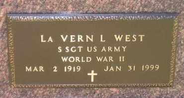WEST, LA VERN L. (WW II) - Codington County, South Dakota   LA VERN L. (WW II) WEST - South Dakota Gravestone Photos