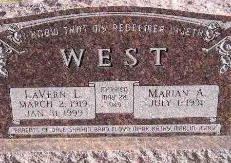 WEST, MARIAN A. - Codington County, South Dakota | MARIAN A. WEST - South Dakota Gravestone Photos