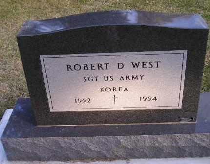 WEST, ROBERT D. (MILITARY) - Codington County, South Dakota | ROBERT D. (MILITARY) WEST - South Dakota Gravestone Photos