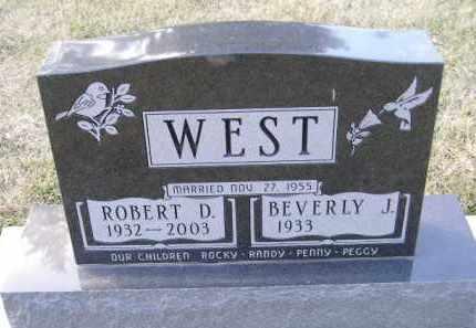 WEST, ROBERT D. - Codington County, South Dakota | ROBERT D. WEST - South Dakota Gravestone Photos