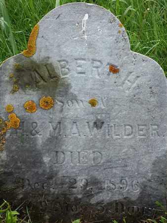 WILDER, ALBERT H - Codington County, South Dakota | ALBERT H WILDER - South Dakota Gravestone Photos