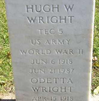 WRIGHT, HUGH W. - Codington County, South Dakota | HUGH W. WRIGHT - South Dakota Gravestone Photos