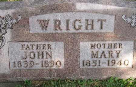 WRIGHT, MARY JANE - Codington County, South Dakota | MARY JANE WRIGHT - South Dakota Gravestone Photos