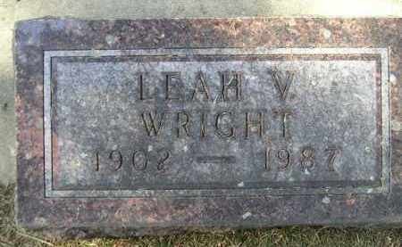 WRIGHT, LEAH V. - Codington County, South Dakota | LEAH V. WRIGHT - South Dakota Gravestone Photos