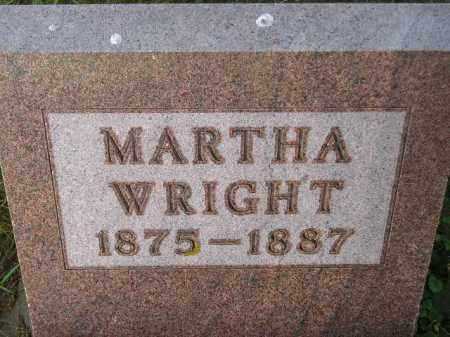 WRIGHT, MARTHA - Codington County, South Dakota   MARTHA WRIGHT - South Dakota Gravestone Photos