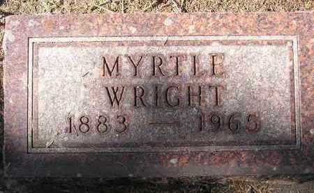 WRIGHT, MYRTLE - Codington County, South Dakota | MYRTLE WRIGHT - South Dakota Gravestone Photos