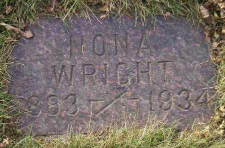 WRIGHT, NONA - Codington County, South Dakota | NONA WRIGHT - South Dakota Gravestone Photos