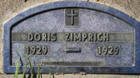 ZIMPRICH, DORIS FLORENCE - Codington County, South Dakota | DORIS FLORENCE ZIMPRICH - South Dakota Gravestone Photos