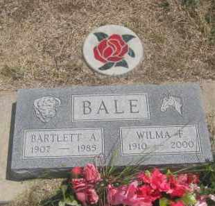 BALE, BARTLETT  A. - Custer County, South Dakota | BARTLETT  A. BALE - South Dakota Gravestone Photos