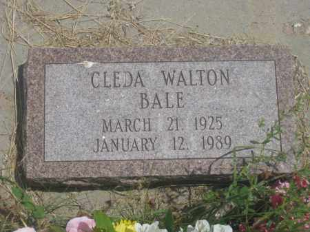 BALE, CLEDA - Custer County, South Dakota | CLEDA BALE - South Dakota Gravestone Photos