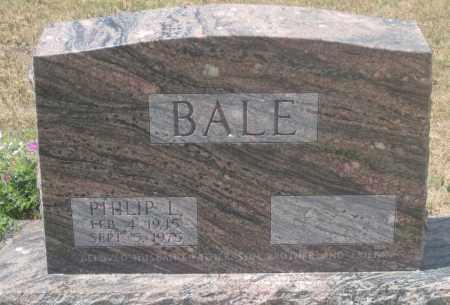 BALE, PHILIP  L. - Custer County, South Dakota | PHILIP  L. BALE - South Dakota Gravestone Photos