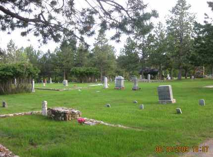 *CUSTER CEMETERY, VIEW OF - Custer County, South Dakota | VIEW OF *CUSTER CEMETERY - South Dakota Gravestone Photos