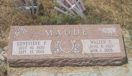 MAUDE, WALTER  C. - Custer County, South Dakota | WALTER  C. MAUDE - South Dakota Gravestone Photos
