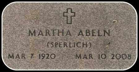 SPERLICH ABELN, MARTHA - Davison County, South Dakota | MARTHA SPERLICH ABELN - South Dakota Gravestone Photos