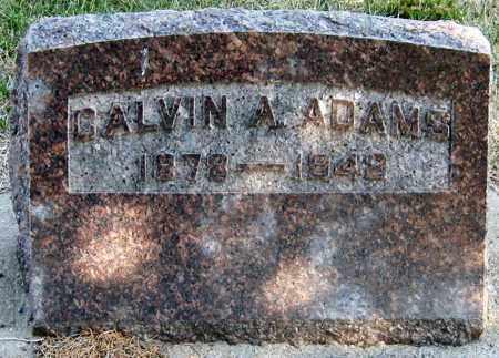 ADAMS, CALVIN - Davison County, South Dakota | CALVIN ADAMS - South Dakota Gravestone Photos