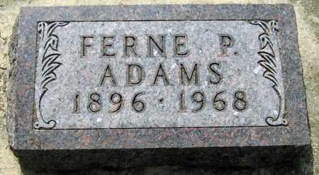 ADAMS, FERNE - Davison County, South Dakota | FERNE ADAMS - South Dakota Gravestone Photos