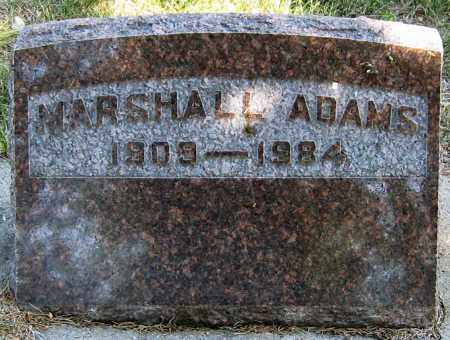 ADAMS, MARSHALL - Davison County, South Dakota | MARSHALL ADAMS - South Dakota Gravestone Photos