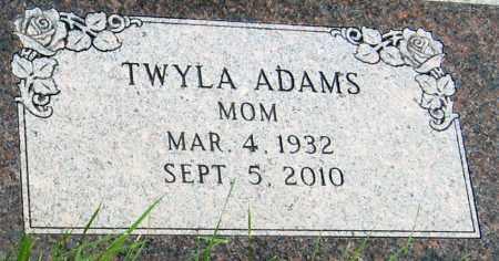 ADAMS, TWYLA - Davison County, South Dakota | TWYLA ADAMS - South Dakota Gravestone Photos