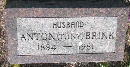BRINK, ANTON (TONY) - Davison County, South Dakota | ANTON (TONY) BRINK - South Dakota Gravestone Photos