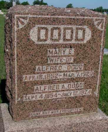 DODD, ALFRED A. - Davison County, South Dakota | ALFRED A. DODD - South Dakota Gravestone Photos