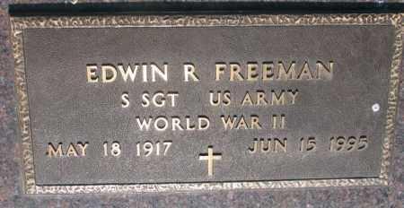 FREEMAN, EDWIN R. (WW II) - Davison County, South Dakota   EDWIN R. (WW II) FREEMAN - South Dakota Gravestone Photos