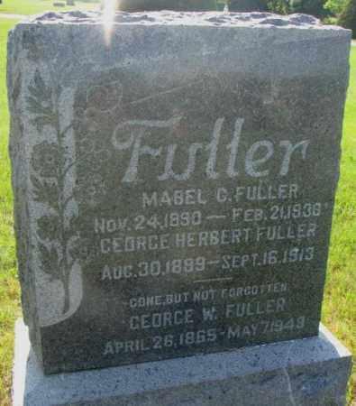 FULLER, MABEL G. - Davison County, South Dakota   MABEL G. FULLER - South Dakota Gravestone Photos