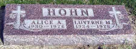 HOHN, LUVERNE - Davison County, South Dakota | LUVERNE HOHN - South Dakota Gravestone Photos