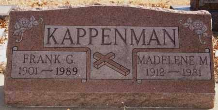 KAPPENMAN, FRANK G - Davison County, South Dakota | FRANK G KAPPENMAN - South Dakota Gravestone Photos