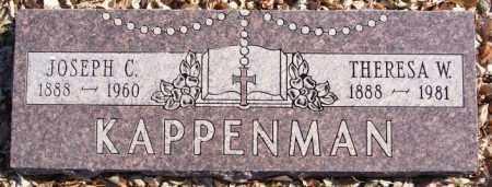 KAPPENMAN, JOSEPH C - Davison County, South Dakota | JOSEPH C KAPPENMAN - South Dakota Gravestone Photos