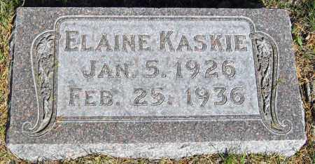 KASKIE, ELAINE - Davison County, South Dakota | ELAINE KASKIE - South Dakota Gravestone Photos