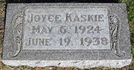 KASKIE, JOYCE - Davison County, South Dakota | JOYCE KASKIE - South Dakota Gravestone Photos