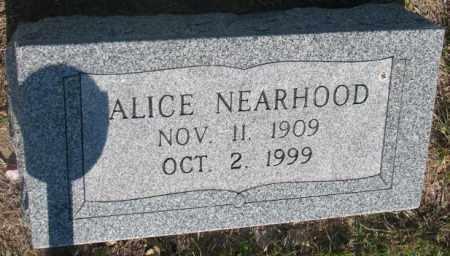 NEARHOOD, ALICE - Davison County, South Dakota | ALICE NEARHOOD - South Dakota Gravestone Photos