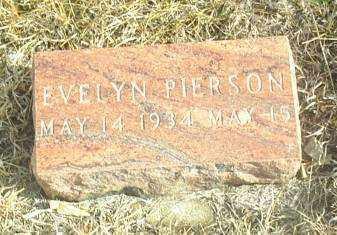 PIERSON, EVELYN - Davison County, South Dakota   EVELYN PIERSON - South Dakota Gravestone Photos