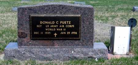 PUETZ, DONALD - Davison County, South Dakota | DONALD PUETZ - South Dakota Gravestone Photos