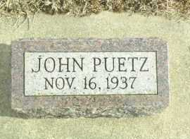PUETZ, JOHN - Davison County, South Dakota | JOHN PUETZ - South Dakota Gravestone Photos