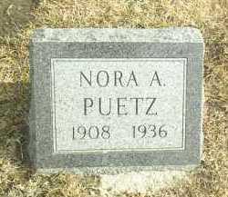 PUETZ, NORA - Davison County, South Dakota   NORA PUETZ - South Dakota Gravestone Photos