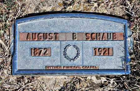 SCHAUB, AUGUST - Davison County, South Dakota | AUGUST SCHAUB - South Dakota Gravestone Photos
