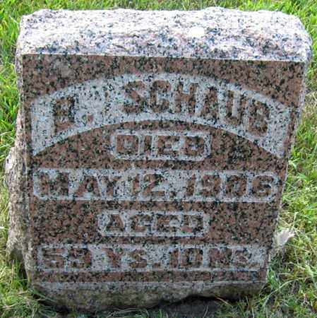 SCHAUB, BONAVENTURE - Davison County, South Dakota   BONAVENTURE SCHAUB - South Dakota Gravestone Photos