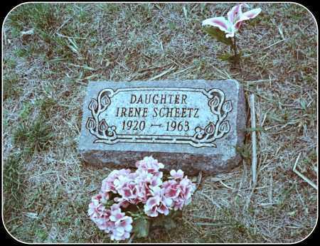 SCHEETZ, IRENE - Davison County, South Dakota   IRENE SCHEETZ - South Dakota Gravestone Photos