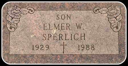 SPERLICH, ELMER W. - Davison County, South Dakota | ELMER W. SPERLICH - South Dakota Gravestone Photos