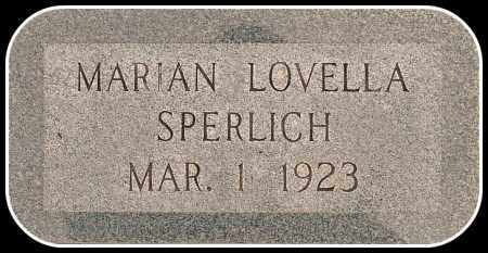 SPERLICH, MARIAN LOVELLA - Davison County, South Dakota | MARIAN LOVELLA SPERLICH - South Dakota Gravestone Photos