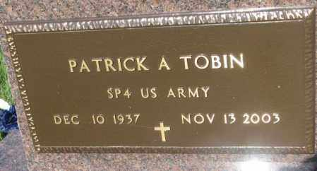 TOBIN, PATRICK A. (MILITARY) - Davison County, South Dakota   PATRICK A. (MILITARY) TOBIN - South Dakota Gravestone Photos