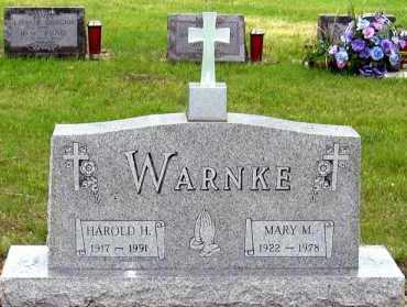 WARNKE, HAROLD - Davison County, South Dakota | HAROLD WARNKE - South Dakota Gravestone Photos
