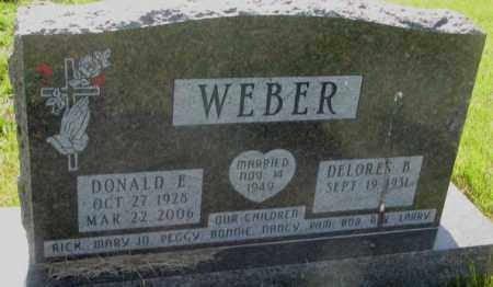 WEBER, DELORES B. - Davison County, South Dakota   DELORES B. WEBER - South Dakota Gravestone Photos