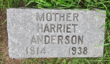 ANDERSON, HARRIET - Day County, South Dakota | HARRIET ANDERSON - South Dakota Gravestone Photos