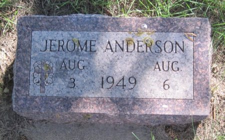 ANDERSON, JEROME - Day County, South Dakota | JEROME ANDERSON - South Dakota Gravestone Photos